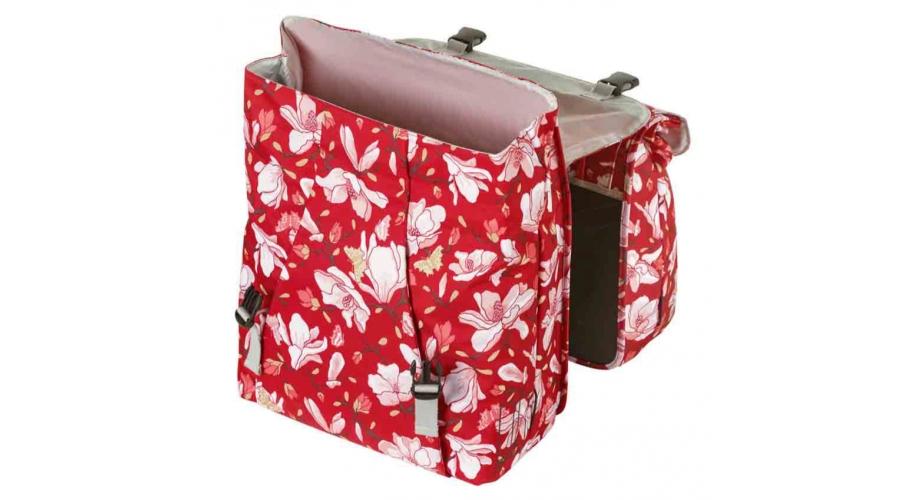 Basil Magnolia Double Pannier Bag Poppy Red